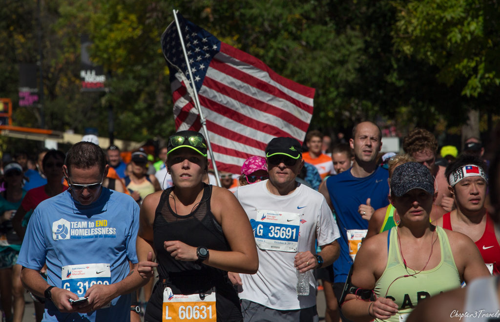 Participants in the 2017 Chicago Marathon