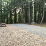Campsite at Crown Point Camping Area in Perkinsville, Vermont