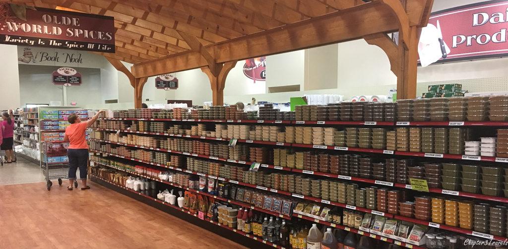 Spices at Sauders Store in Seneca, Falls New York