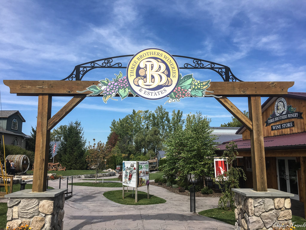 Entrance to Three Brothers Winery