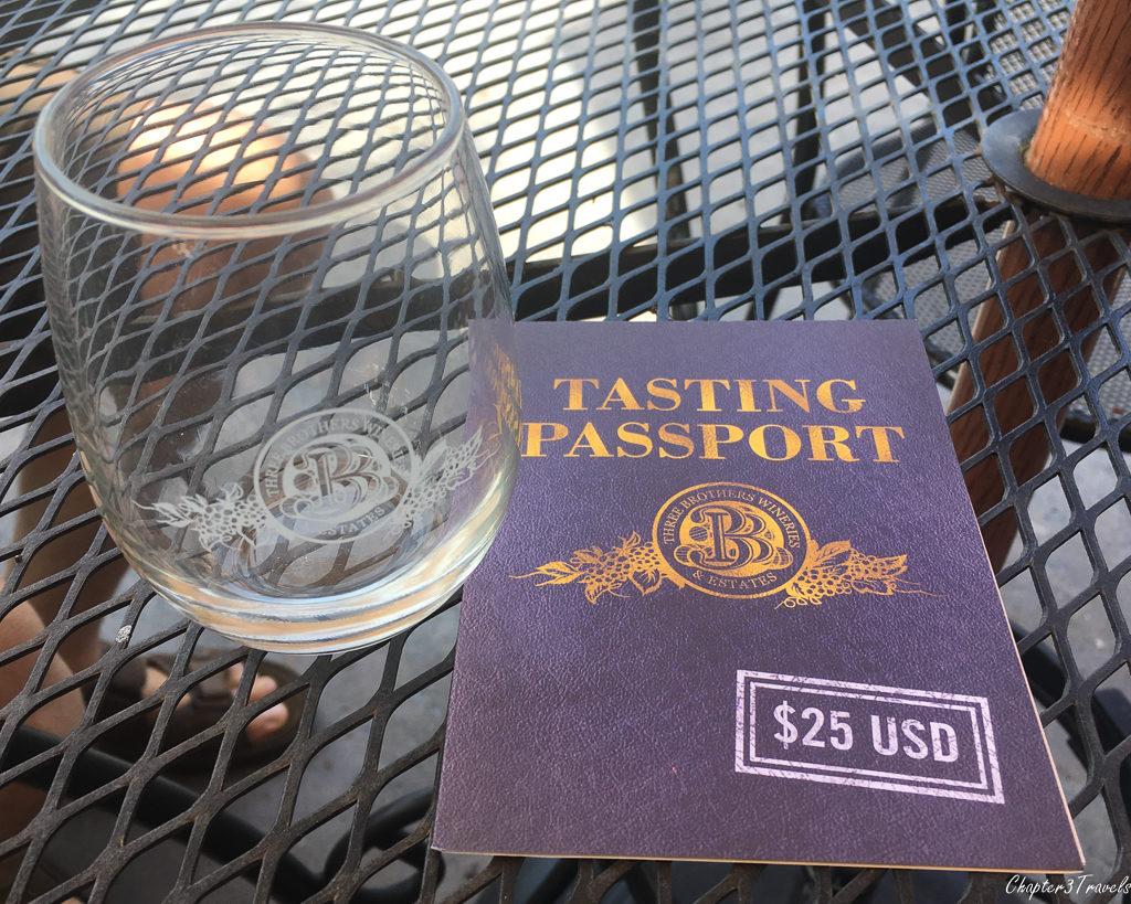 Tasting Passport at Three Brothers Winery