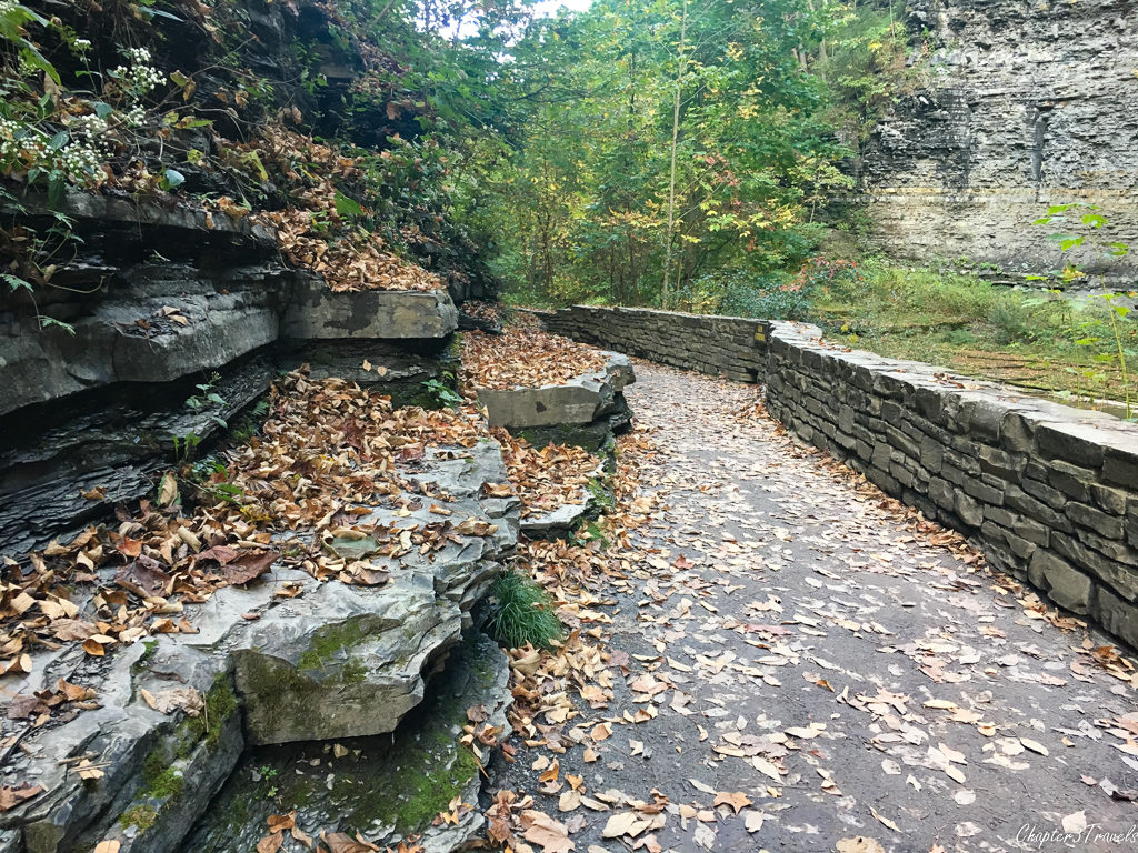 Walkway on the Gorge Trail at Watkins Glen State Park in New York