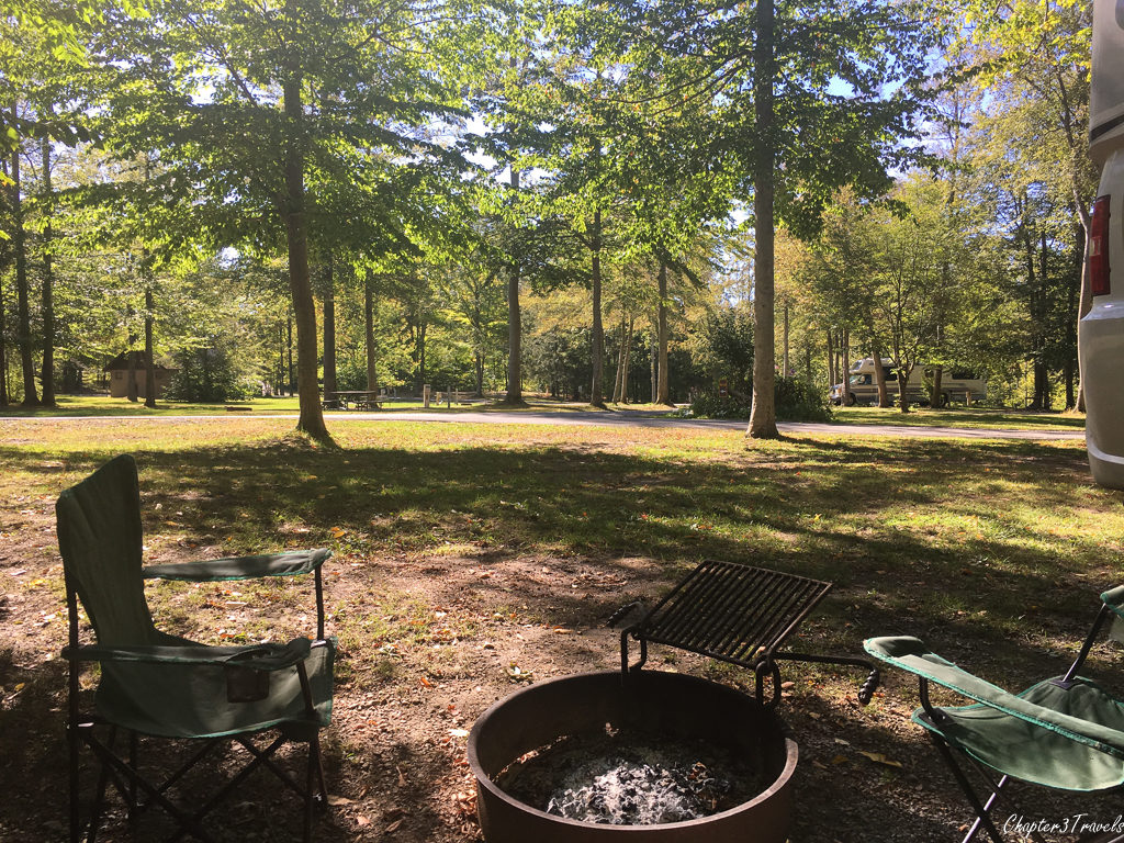 Campsite at Darien Lake State Park