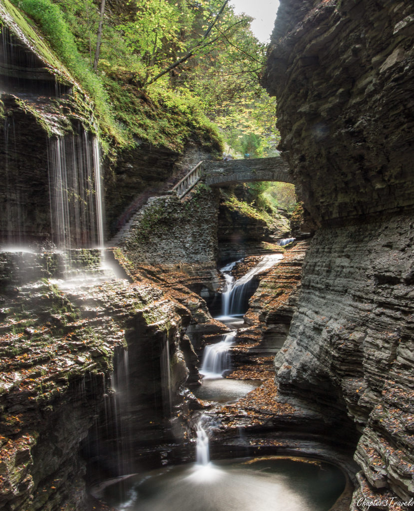 The Gorge Trail at Watkins Glen State Park in New York