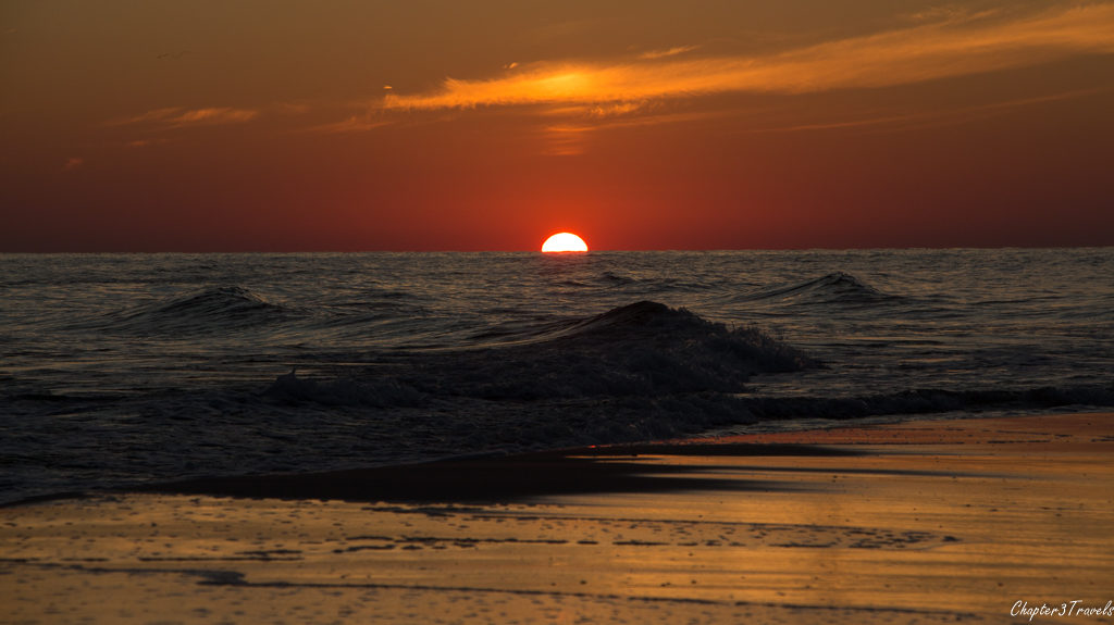 Sunset at Gulf Shores beach at Gulf State Park