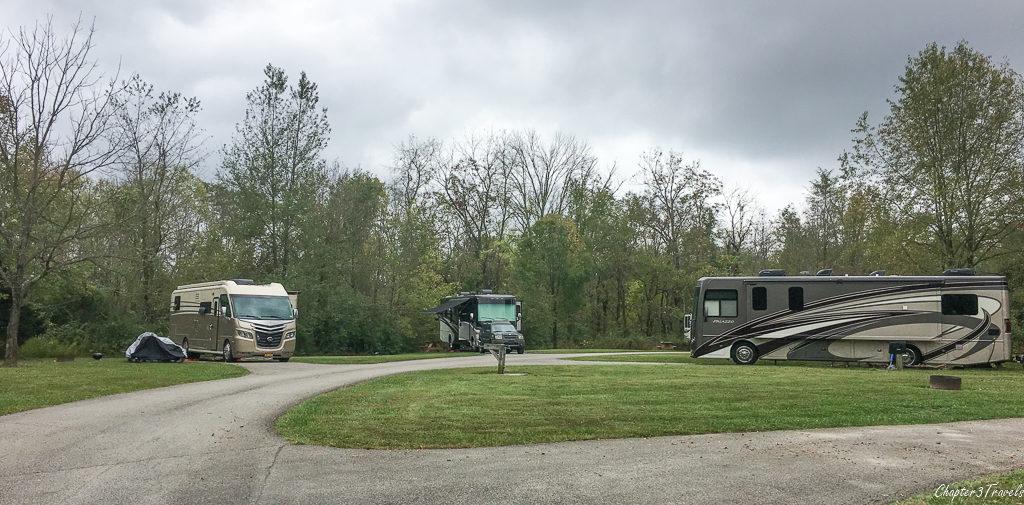 Charlestown State Park campground, Indiana