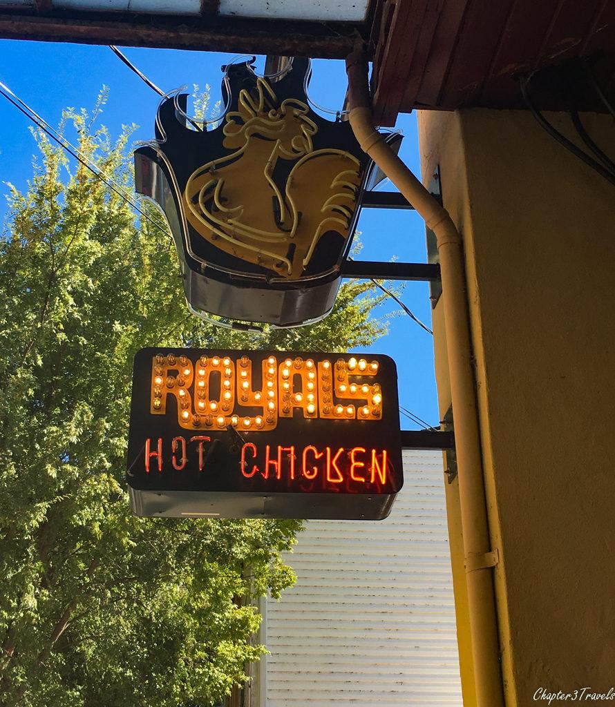 Royals Hot Chicken sign in Louisville, Kentucky