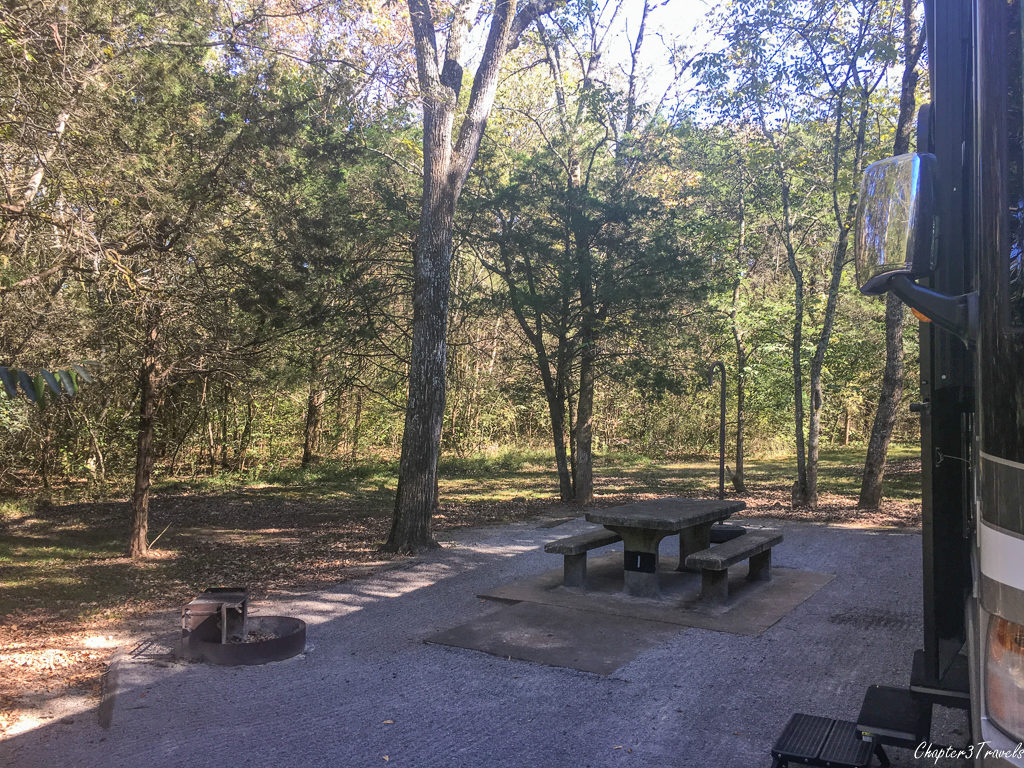 Site #1 at Seven Points Campground in Nashville, Tennessee