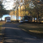 Campsites with views of the water at Seven Points Campground in Hermitage, Tennessee