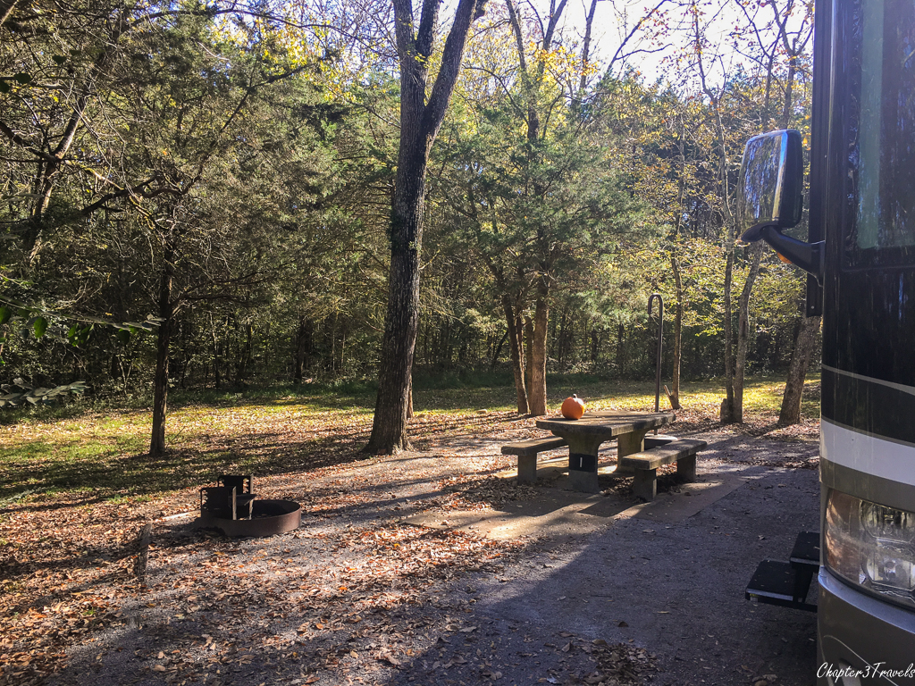 Campsite #1 at Seven Points Campground in Hermitage, Tennessee