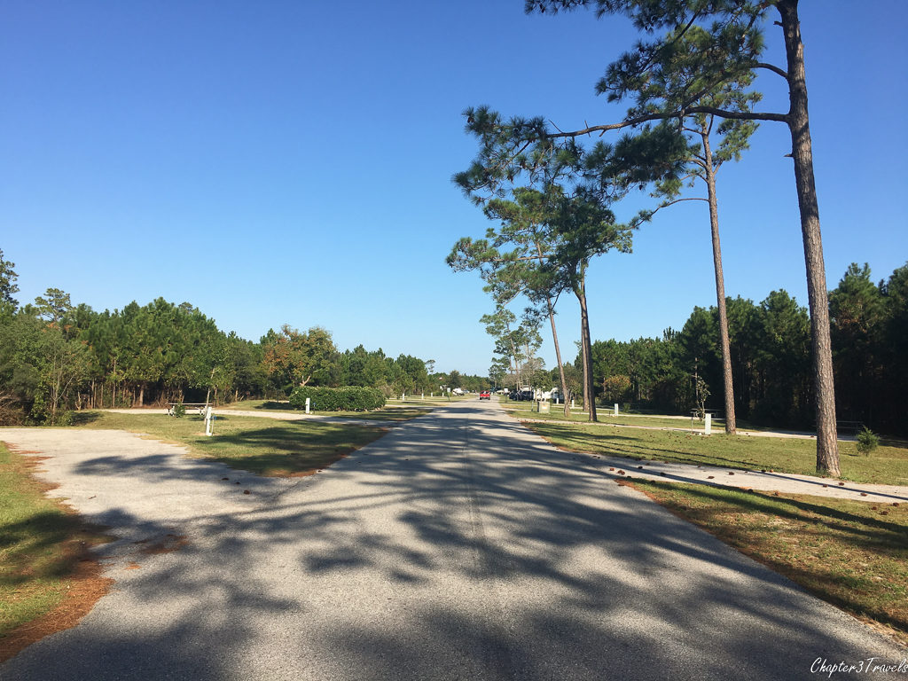 Campsites at Gulf State Park in Gulf Shores, Alabama