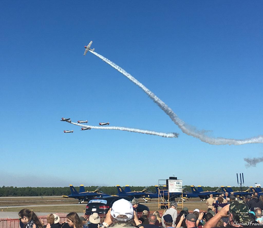 GEICO Skytypers performing demonstration of maneuvers