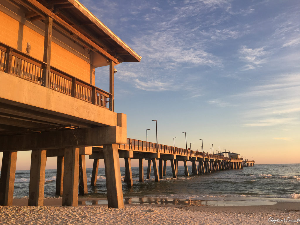 Fishing pier at Gulf State Park in Gulf Shores, Alabama