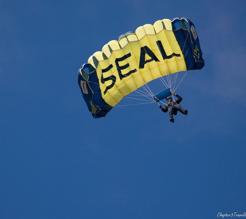 Navy SEAL parachute team member