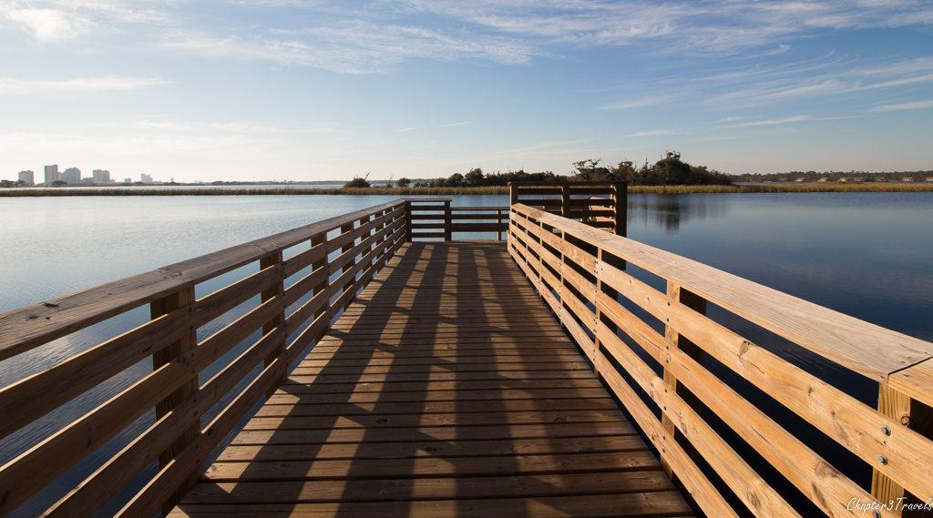 Lake viewing platform at Gulf State Park