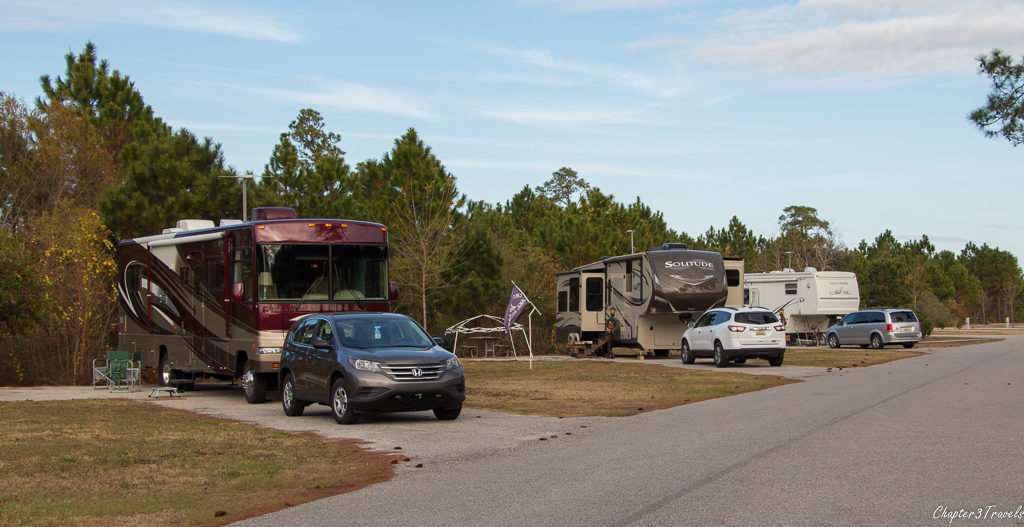 Back-in campsites at Gulf State Park