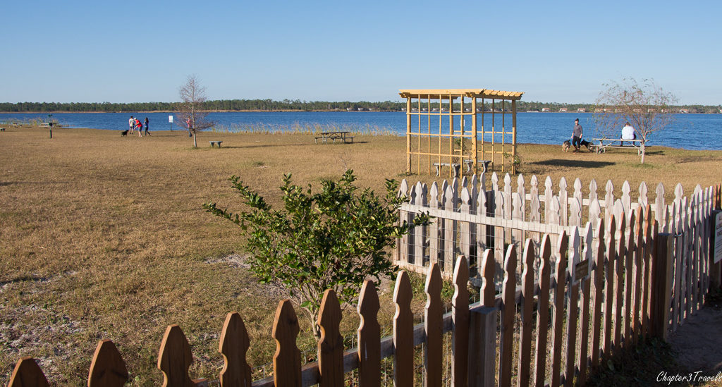 Dog park at Gulf State Park in Gulf Shores, Alabama