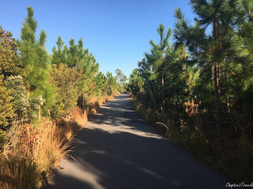 Bike trail at Gulf State Park, Gulf Shores, Alabama
