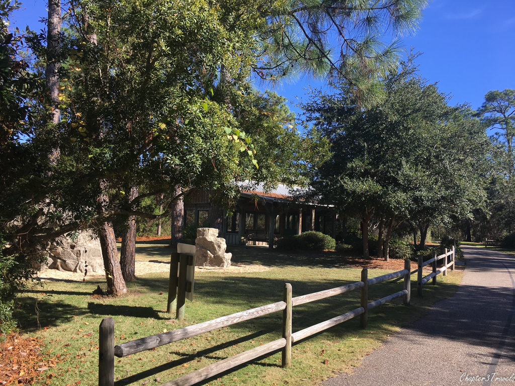 Butterfly garden and rock climbing area at Gulf State Park