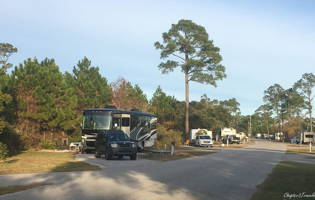 Campsite #451 at Gulf State Park in Gulf Shores, Alabama
