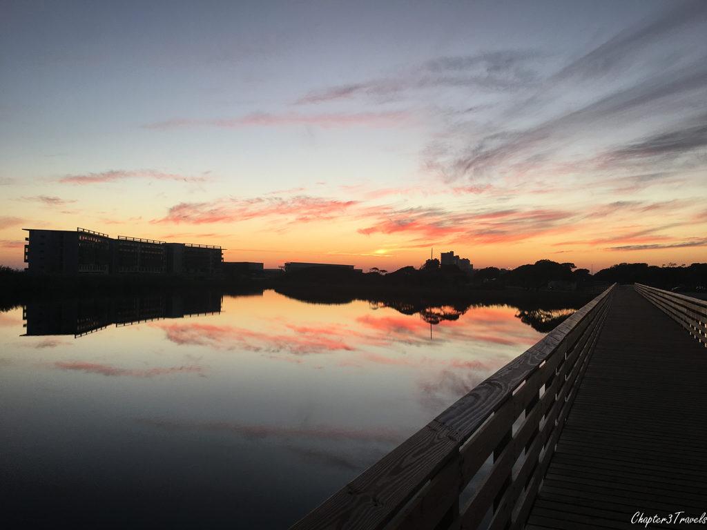 Sunset at Gulf State Park, Gulf Shores, Alabama