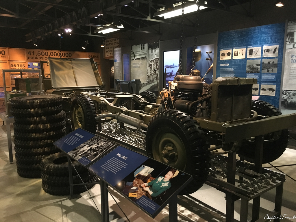 Exhibit on re-tooling factories to produce war goods