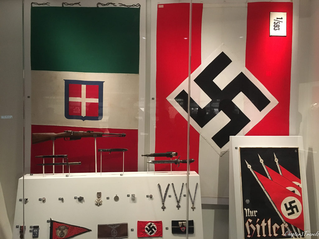 Exhibit on the rise of the Nazi party in Germany at the WWII Museum in New Orleans