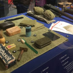Exhibit on soldiers' belongings at WWII Museum in New Orleans