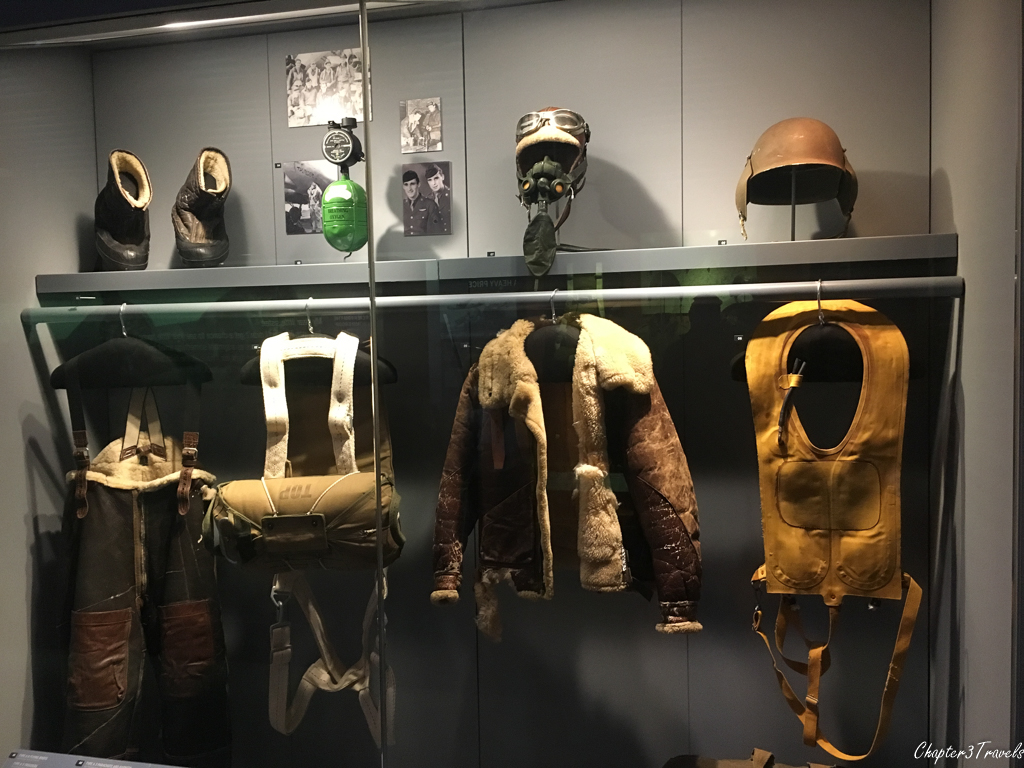 Exhibit on soldier uniforms at WWII Museum in New Orleans