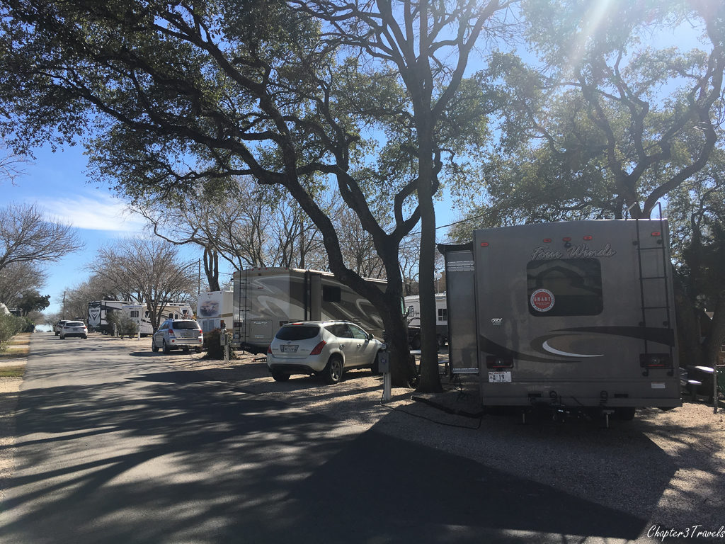 Campsites at Austin Lone Star RV Resort in Austin