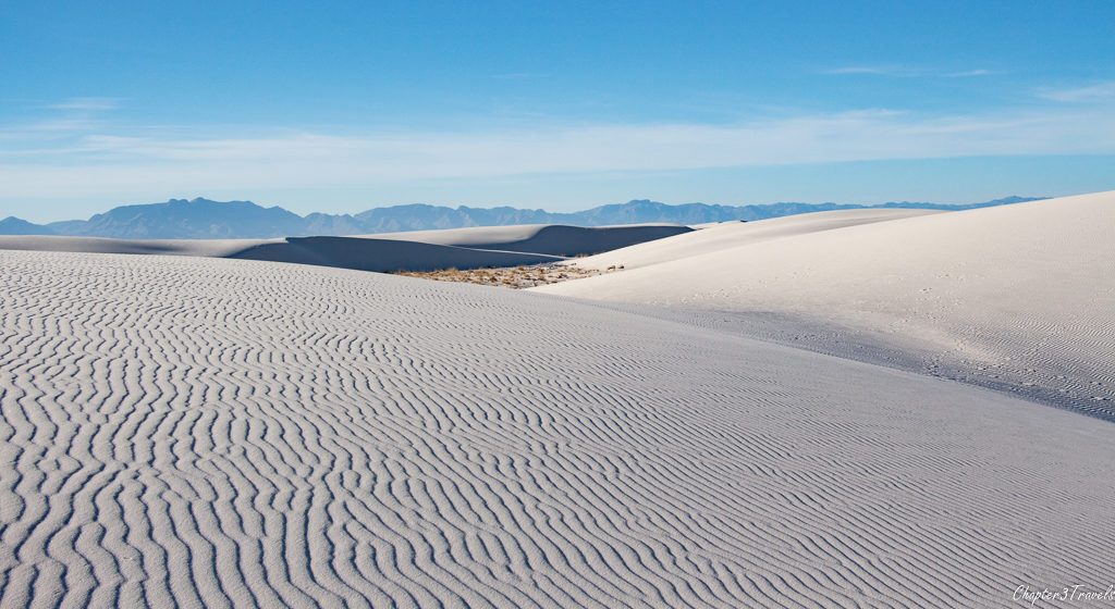 Sand dunes at White Sands National Monument