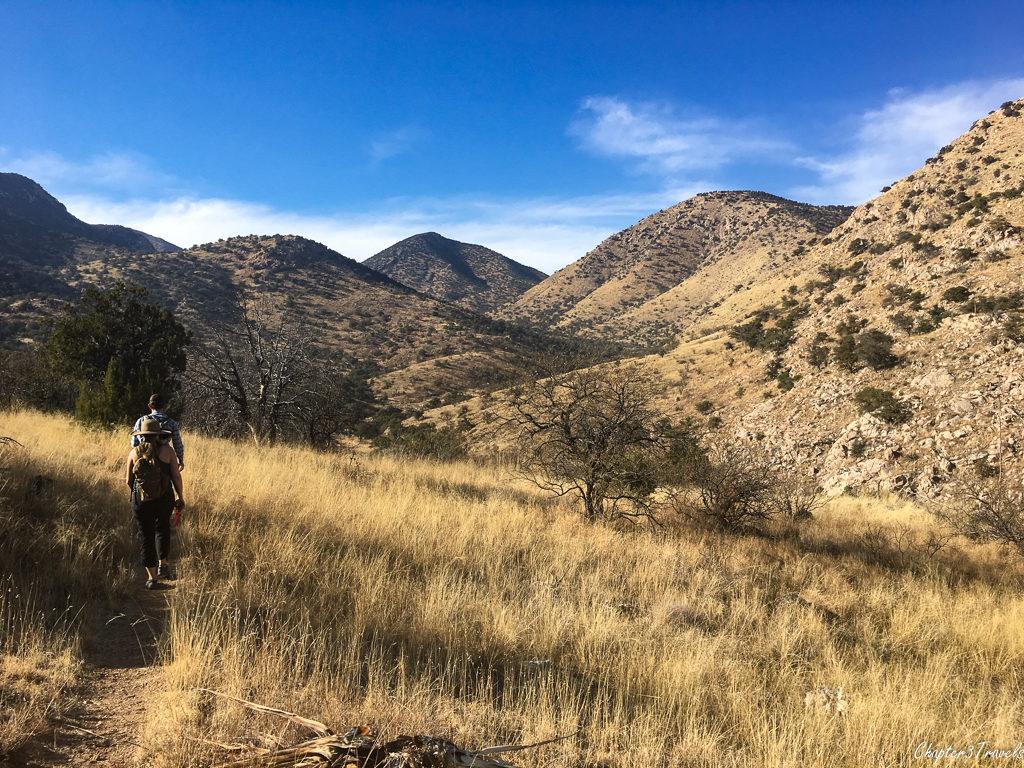 Hiking the Guindani Trail at Kartchner Caverns State Park in Benson, Arizona