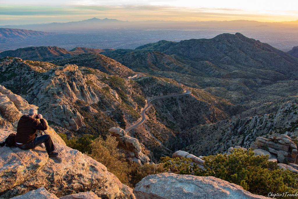 Sunset at Mount Lemmon in Tucson, Arizona