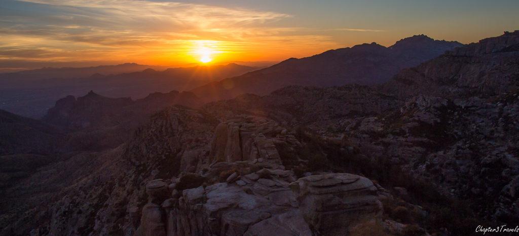 Sunset from Mount Lemmon in Tucson, Arizona