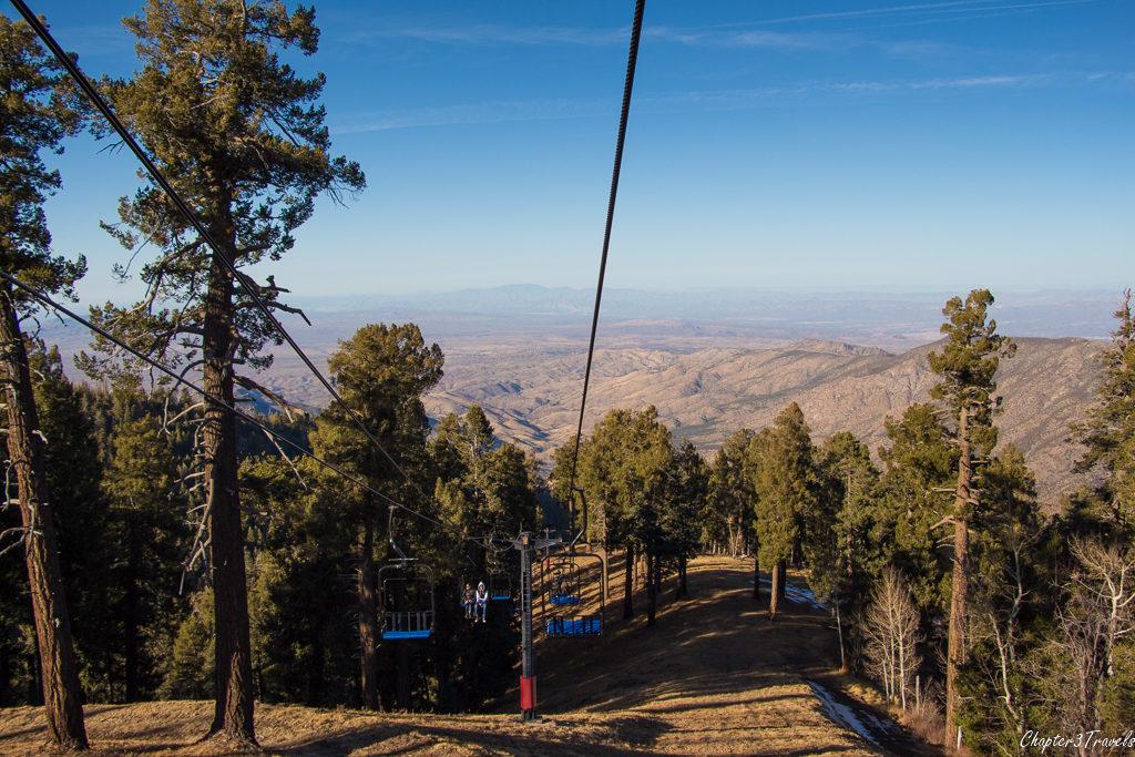 View from the ski lift at Mount Lemmon, Tucson, Arizona