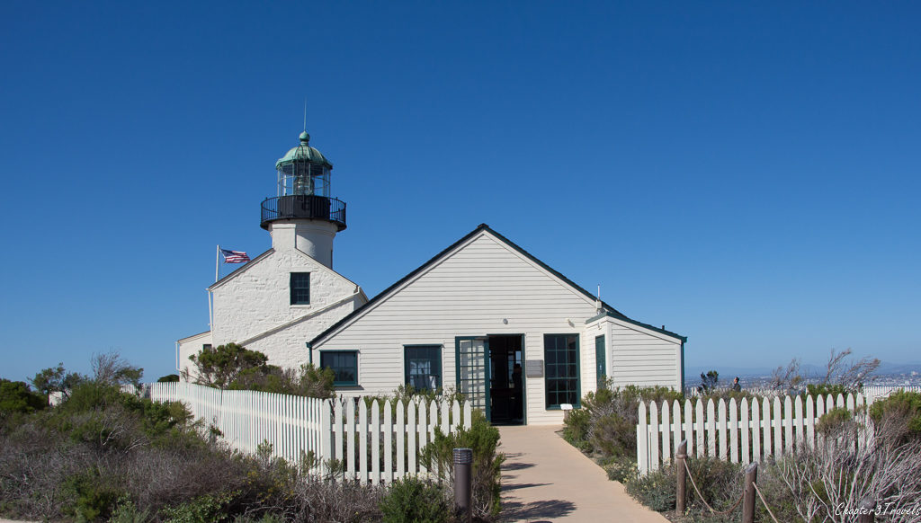 The Old Point Loma Lighthouse at Cabrillo National Monument, San Diego, California