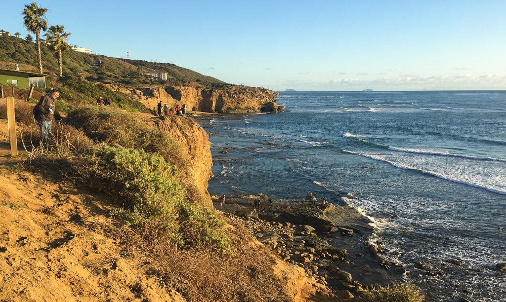 Sunset Cliffs Park in San Diego, California