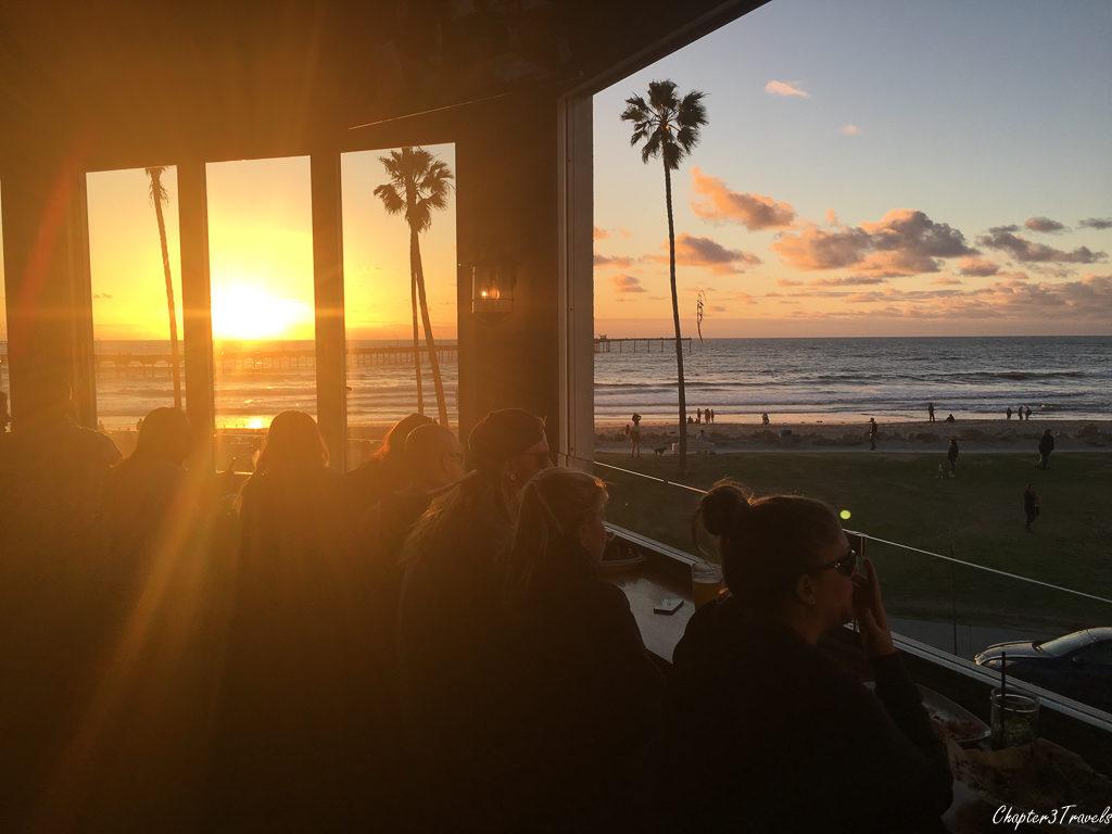 Sunset views from Wonderland Pub in San Diego
