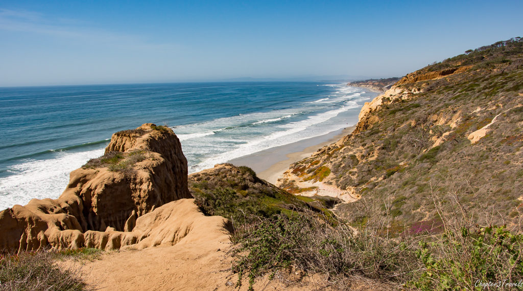 The coast in front of Torrey Pines State Reserve