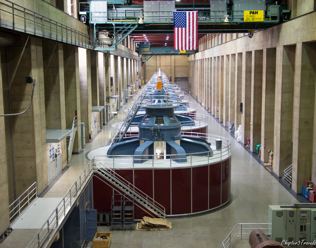 Hydroelectric generators at the Hoover Dam