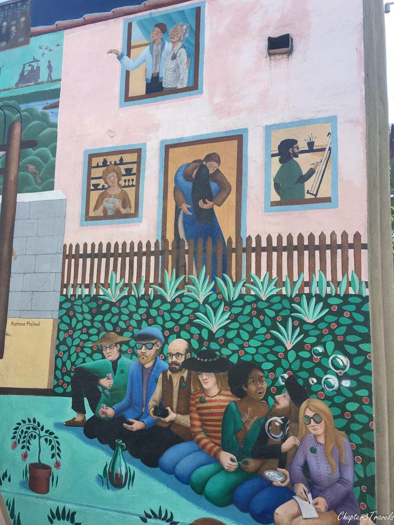 Mural on building near the Venice Beach Boardwalk