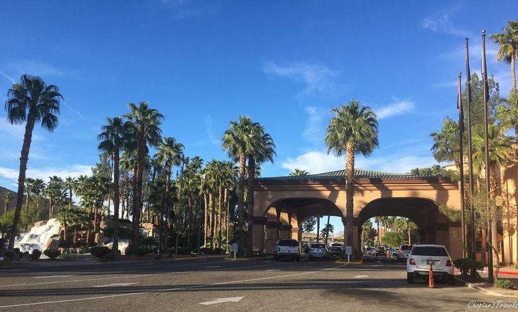 Entrance to the Casa Blanca Casino in Mesquite, Nevada