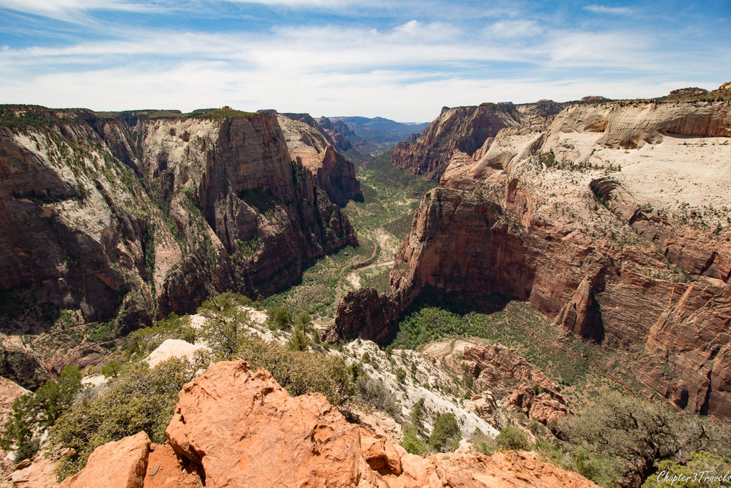 View from the top of Observation Point at Zion National Park