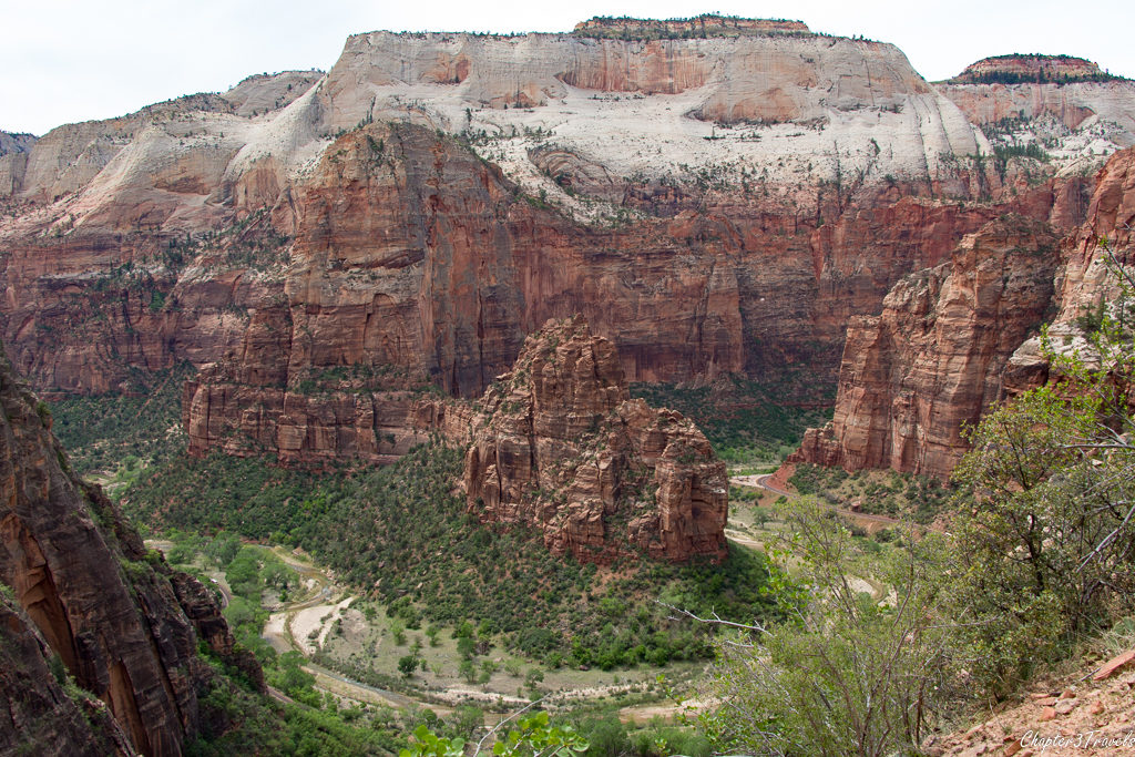 Views from the trail to Observation Point at Zion National Park
