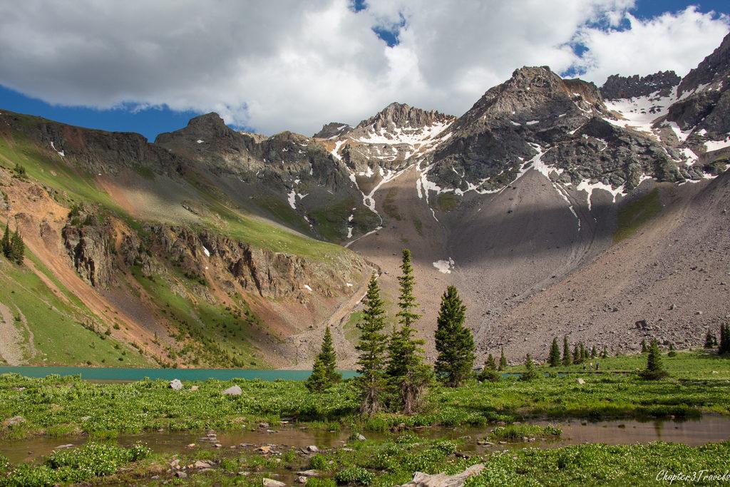 Lower Blue Lake Trail in Mount Sneffels Wilderness, Colorado