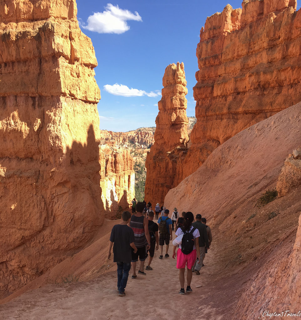 Tourists at Bryce Canyon National Park