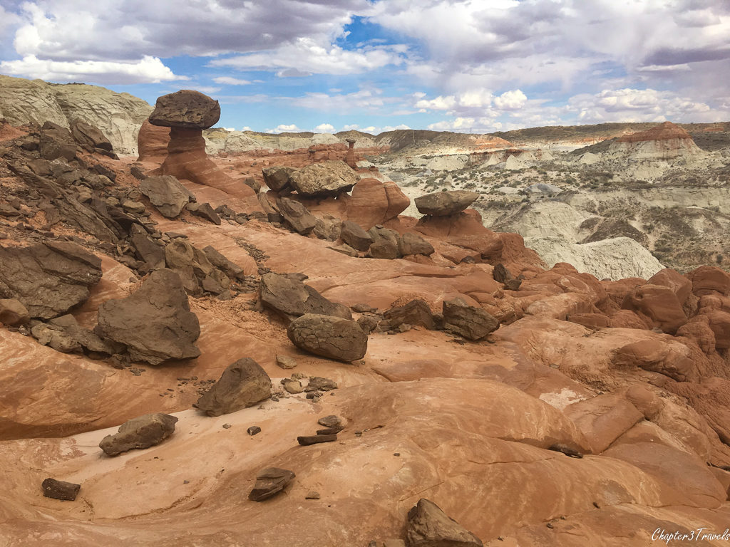 The toadstools hike in Grand Staircase Escalante National Monument near Big Water, Utah