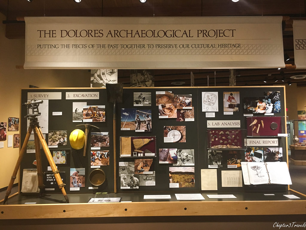 Display about Archaeological Project at the Anasazi Heritage Center in Dolores, Colorado