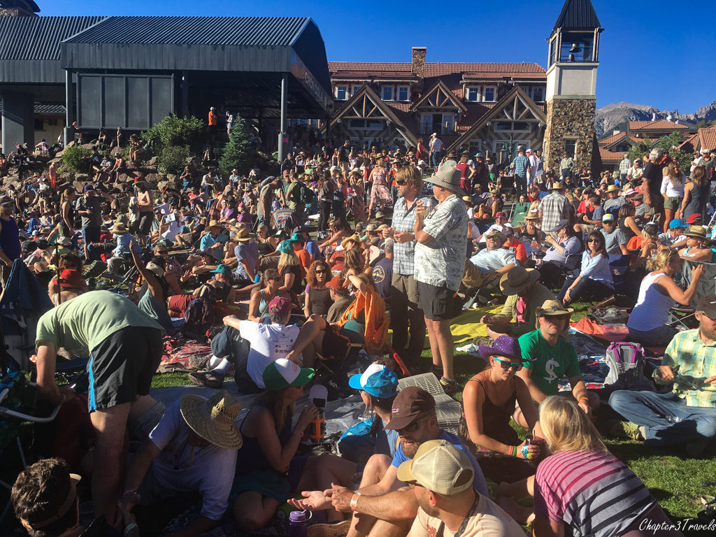 Free concert in Telluride, Colorado