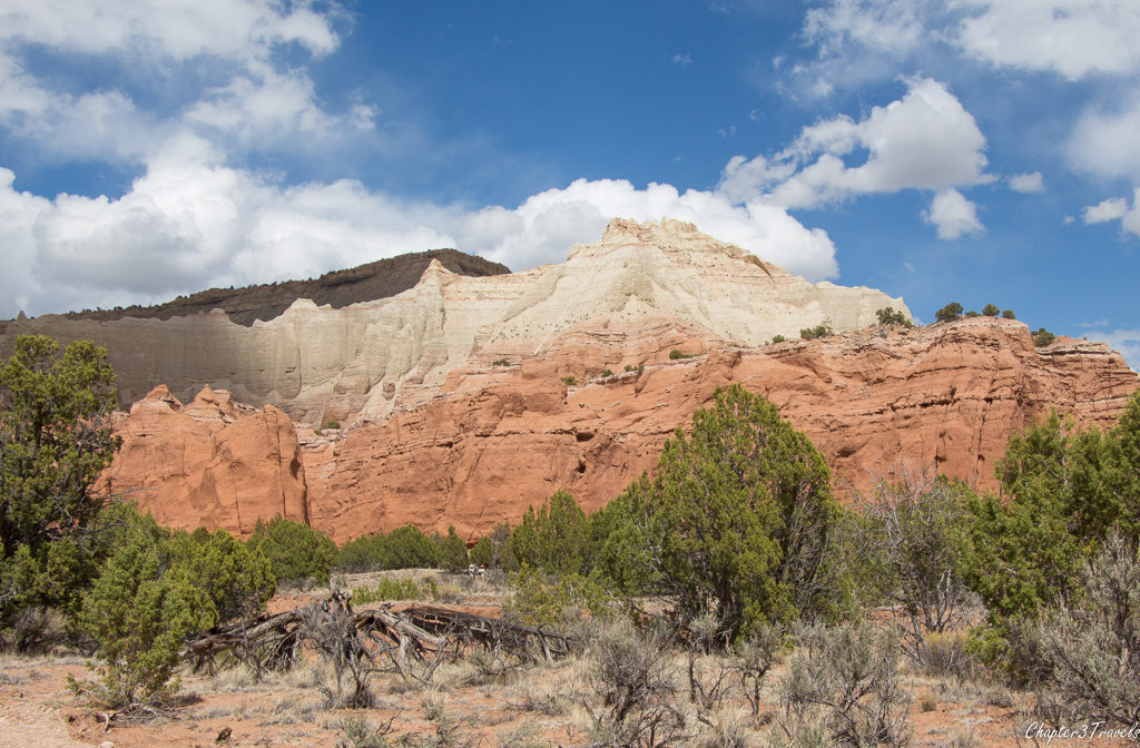 Different colored rock formations at Kodachrome State Park